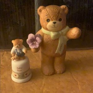 """Enesco Baby Bear and Lucy and Me """"April"""" Bear"""